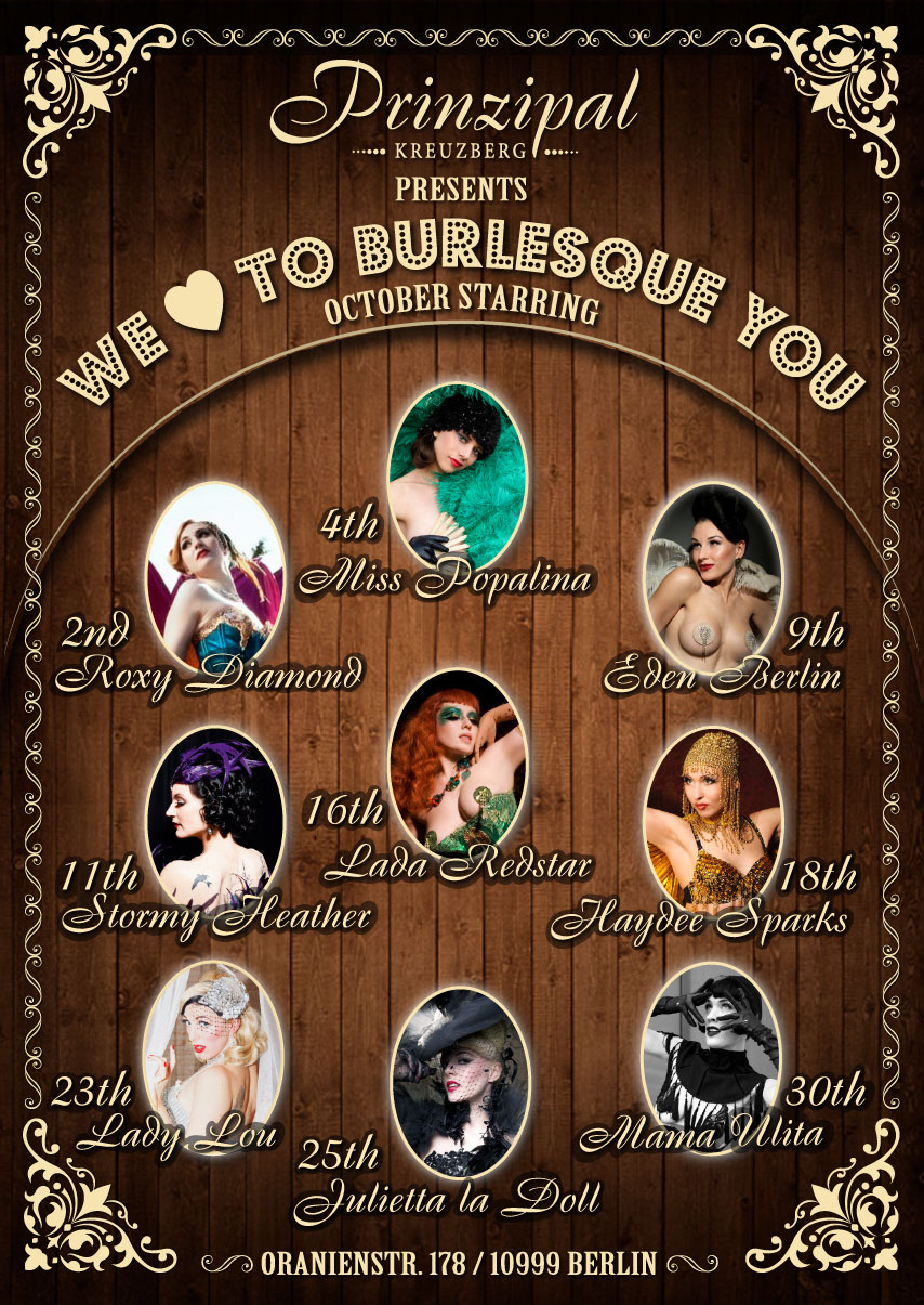 We Love To Burlesque You - October