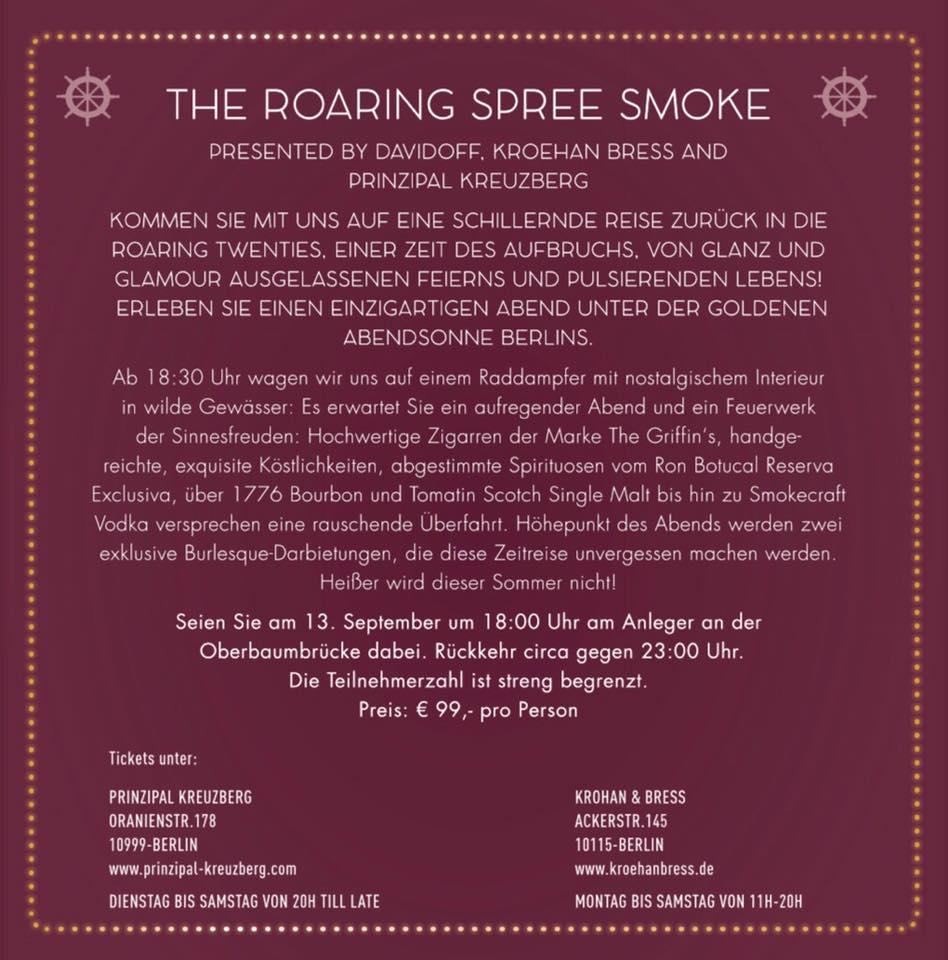 The Roaring Spree Smoke