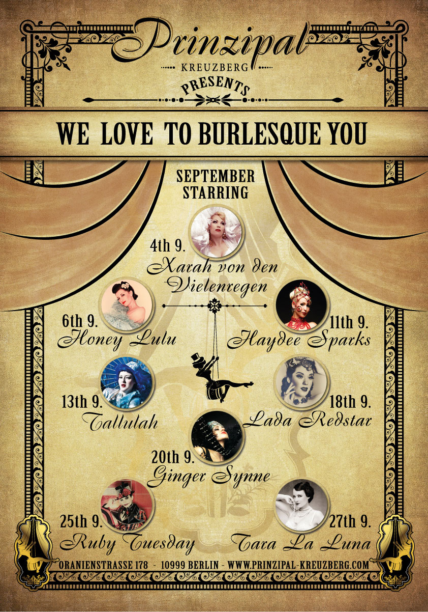 We Love To Burlesque You - September