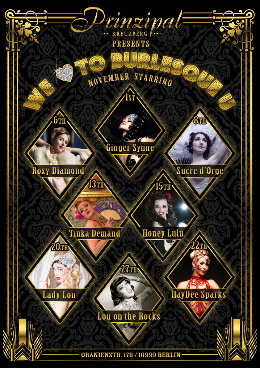 We Love To Burlesque You - November