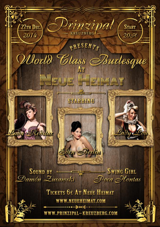 World Class Burlesque At Neue Heimat