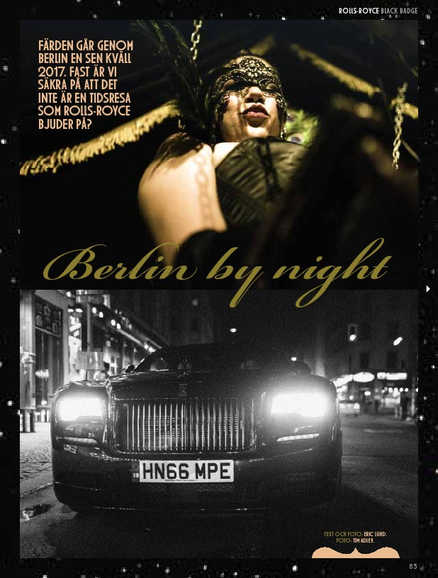 Rolls Royce Black Badge - Berlin By Night