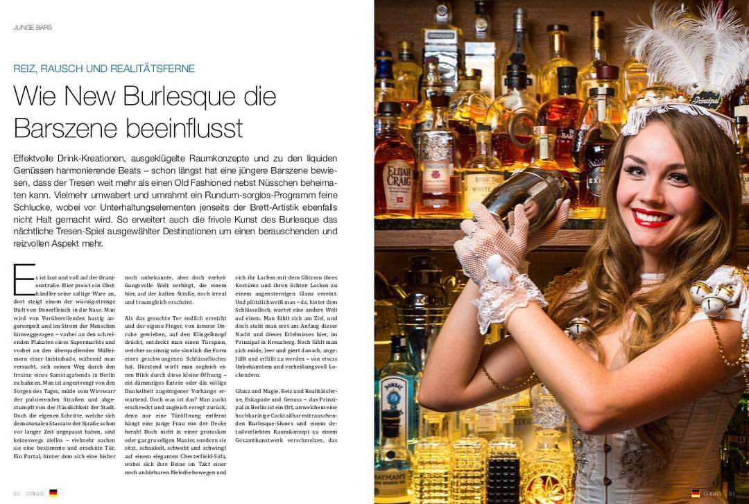 DRINKS – Wie New Burlesque die Barszene beeinflusst